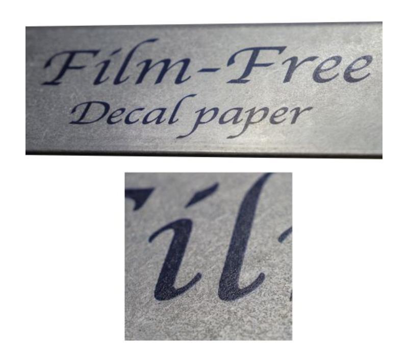 Laser - Sunny Film-free Decal Paper - per 5 vellen