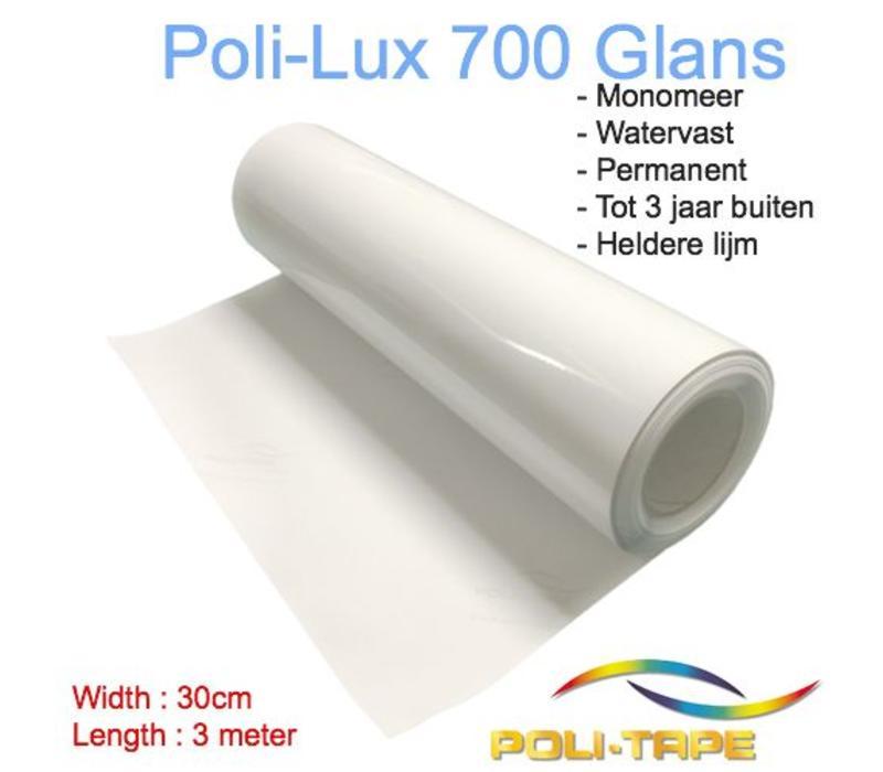 Poli-Lux 700 - Monomeer laminaat folie glans - Rol 30cm x 3 meter