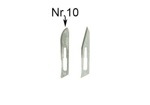 Reservemesjes nr10 voor scalpel SC3 - pakje a 5 mesjes