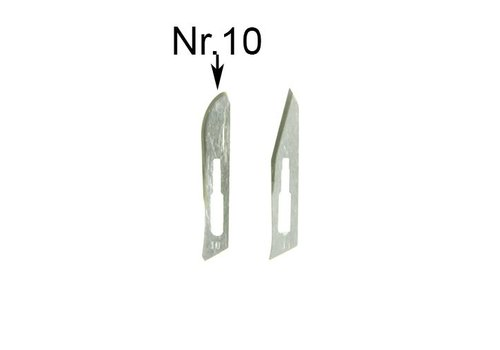 Spareblades nr10 for scalpel SC3 - pack of 5 blades