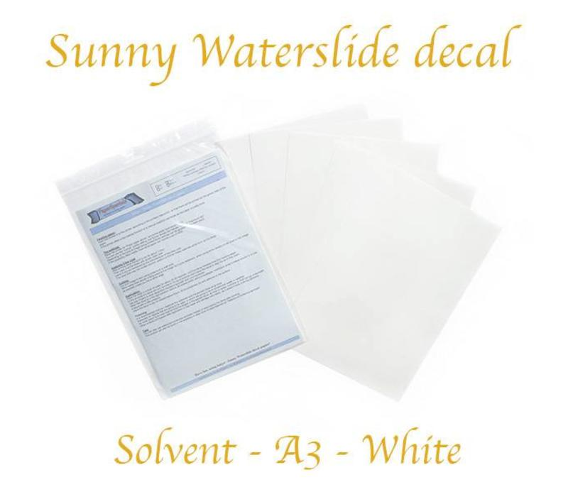 Solvent - Sunny Decal papier - Wit - A3 – per vel
