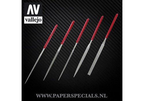 Vallejo Vallejo - Diamond naald vijlen - Set van 5