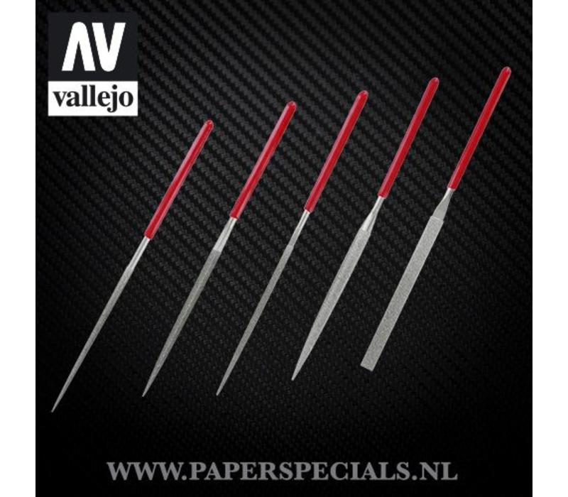 Vallejo - Diamond naald vijlen - Set van 5