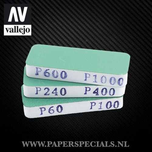 Vallejo - Flexi Sander Dual Grit 80x30x12mm - pak van 3