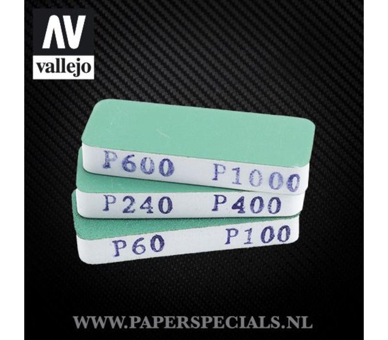 Vallejo - Flexi Sander Dual Grit 80x30x12mm - pack of 3