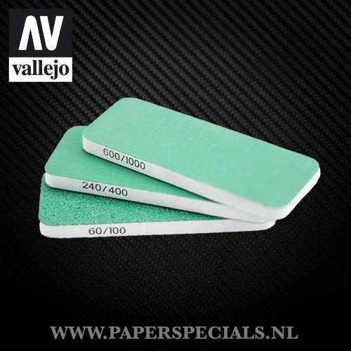 Vallejo - Flexi Sander Dual Grit 80x30x6mm - pak van 3