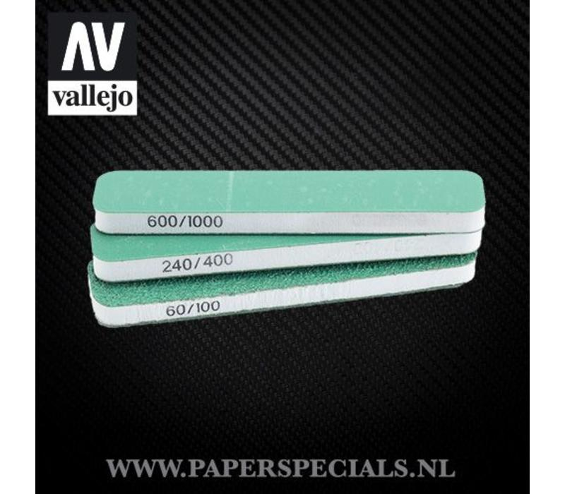 Vallejo - Flexi Sander Dual Grit 90x19x6mm - pak van 3