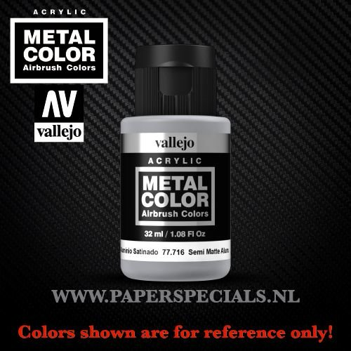Vallejo - Metal Color 35ml - 77.716 Semi Matte Aluminium