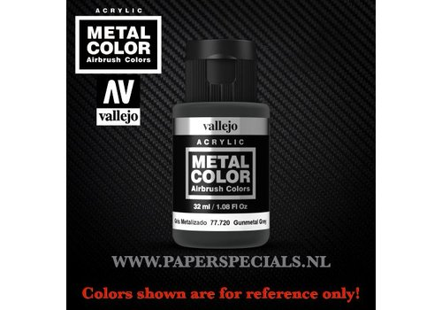 Vallejo Vallejo - Metal Color 35ml - 77.720 Gunmetal Grey