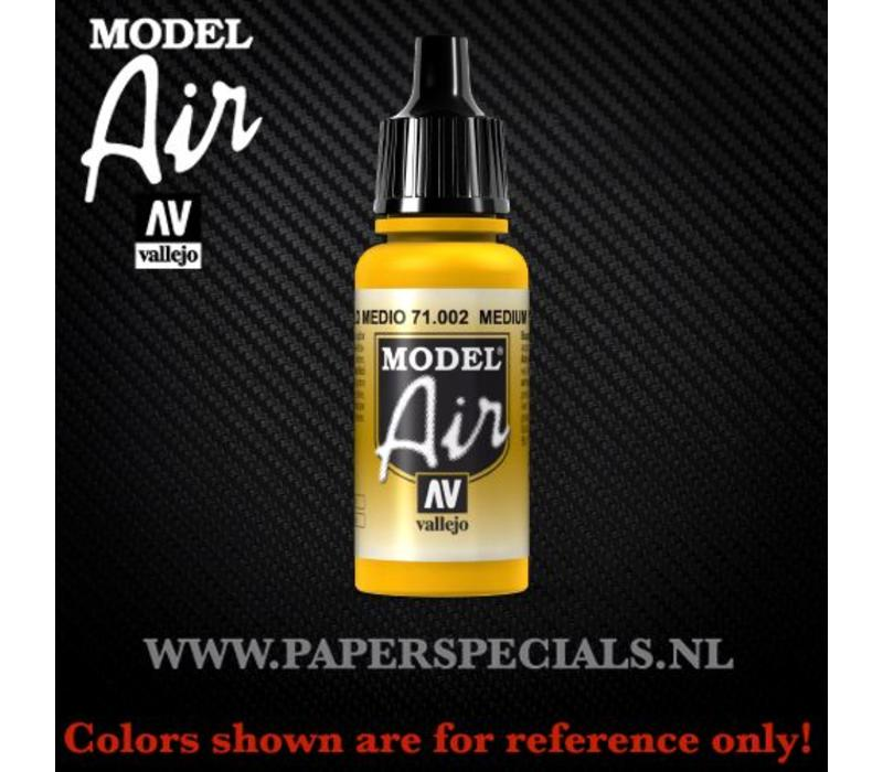 Vallejo - Model Air 17ml - 71.002 Medium Yellow