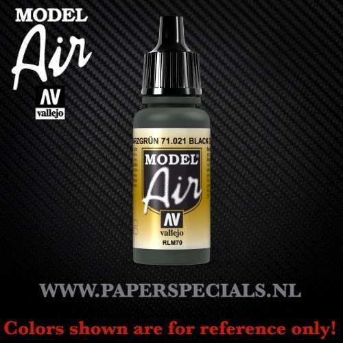 Vallejo - Model Air 17ml - 71.021 Black Green RLM70