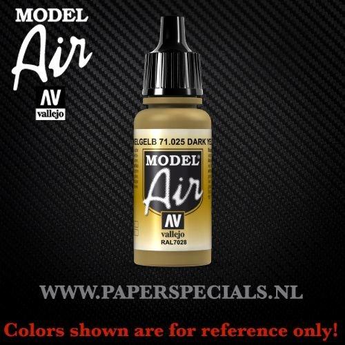 Vallejo - Model Air 17ml - 71.025 Dark Yellow