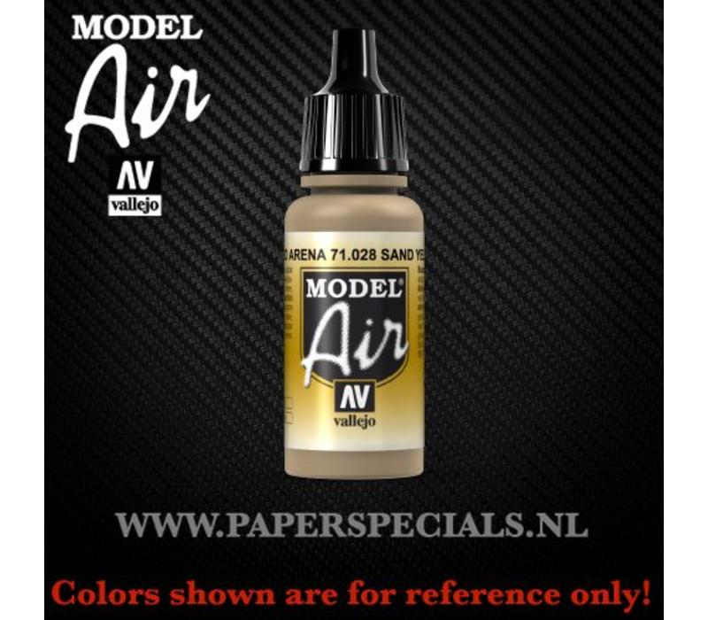 Vallejo - Model Air 17ml - 71.028 Sand Yellow