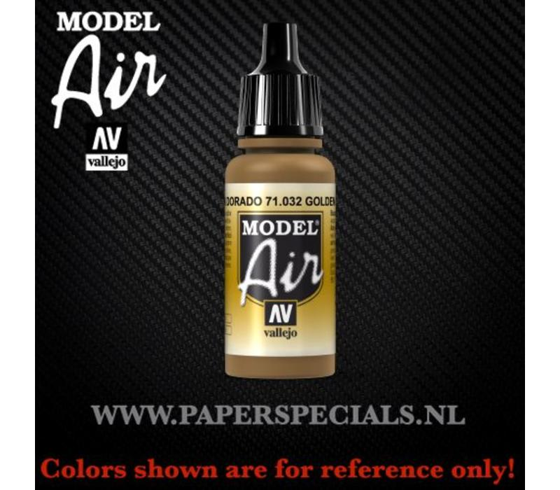 Vallejo - Model Air 17ml - 71.032 Golden Brown