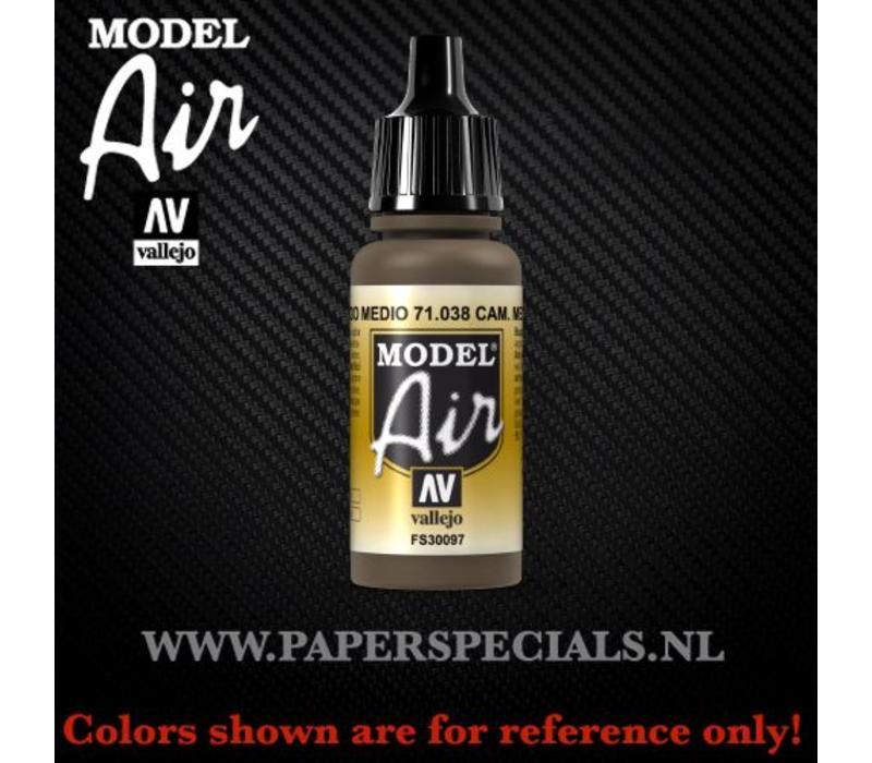 Vallejo - Model Air 17ml - 71.038 Camouflage Medium Brown