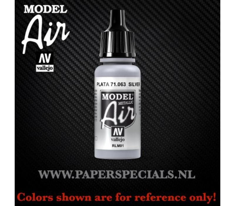 Vallejo - Model Air 17ml - 71.063 Silver RLM01 (Metallic)