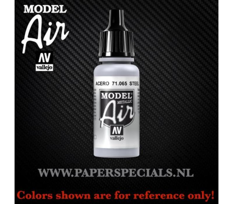 Vallejo - Model Air 17ml - 71.065 Steel (Metallic)