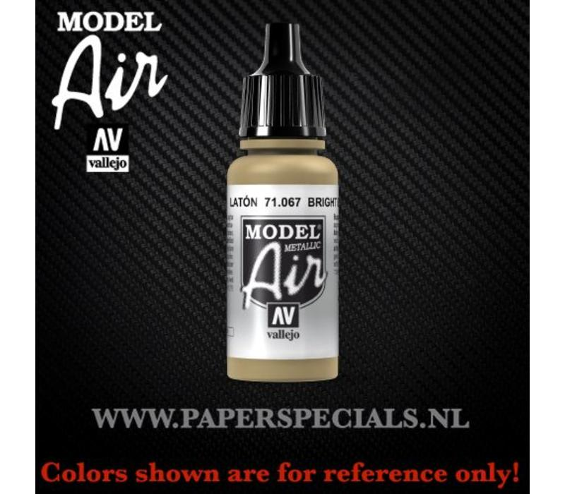 Vallejo - Model Air 17ml - 71.067 Bright Brass (Metallic)