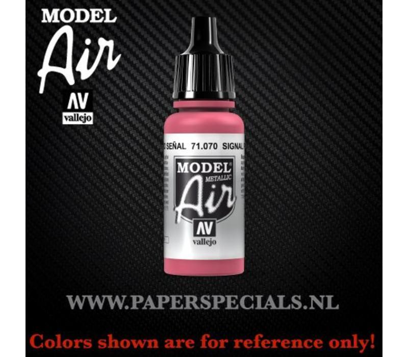 Vallejo - Model Air 17ml - 71.070 Signal Red (Metallic)