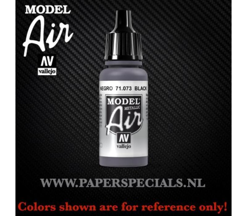Vallejo - Model Air 17ml - 71.073 Black (Metallic)