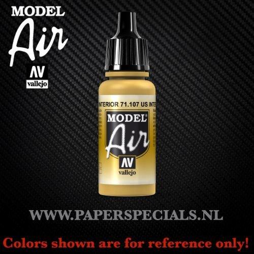 Vallejo - Model Air 17ml - 71.107 US Interior Yellow