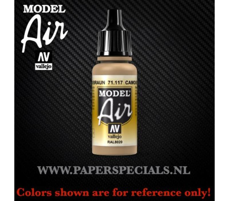 Vallejo - Model Air 17ml - 71.117 Camouflage Brown RAL8020