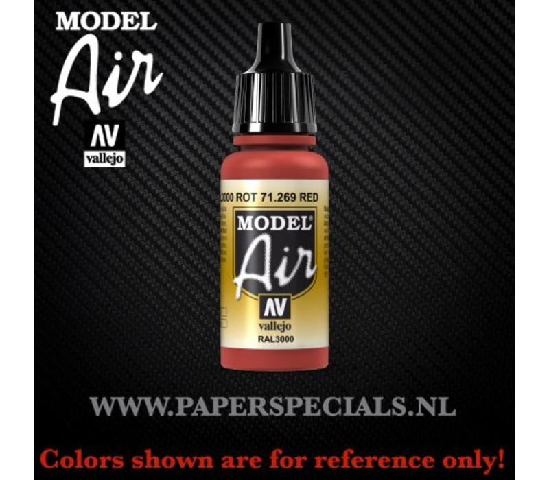 Vallejo - Model Air 17ml - 71.269 Red RAL3000