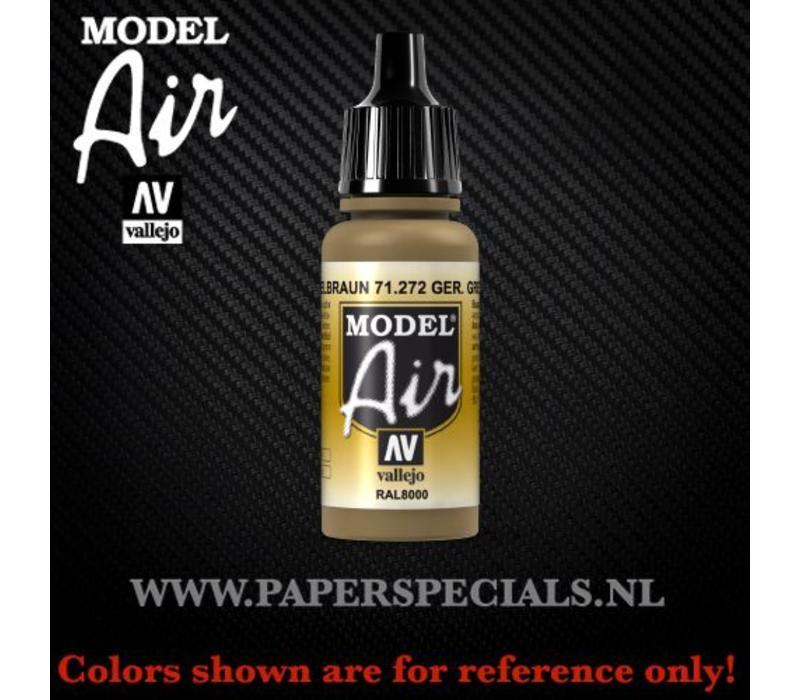 Vallejo - Model Air 17ml - 71.272 German Yellow Brown RAL8000