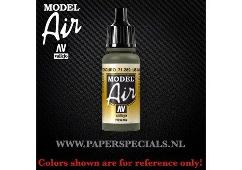 Vallejo Vallejo - Model Air 17ml - 71.289 US Dark Green