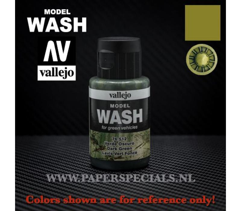 Vallejo - Model Wash 35ml - 76.512 Dark Green