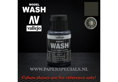 Vallejo Vallejo - Model Wash 35ml - 76.517 Dark Grey