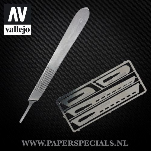 Vallejo - Modeling saw - Set with 4 scalpels