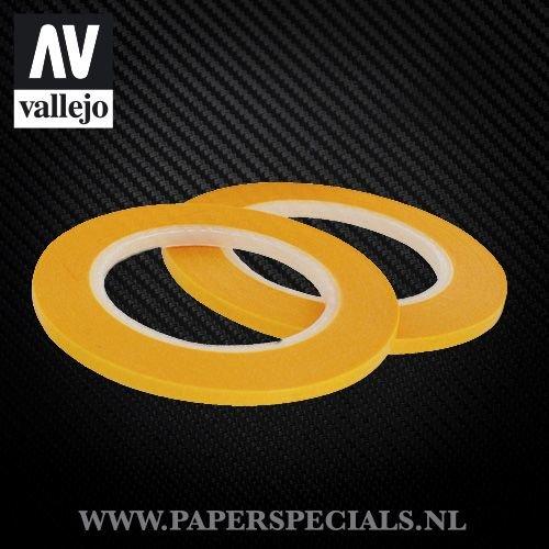 Vallejo - Precision Masking Tape 3mm - 2 rollen van 18 meter