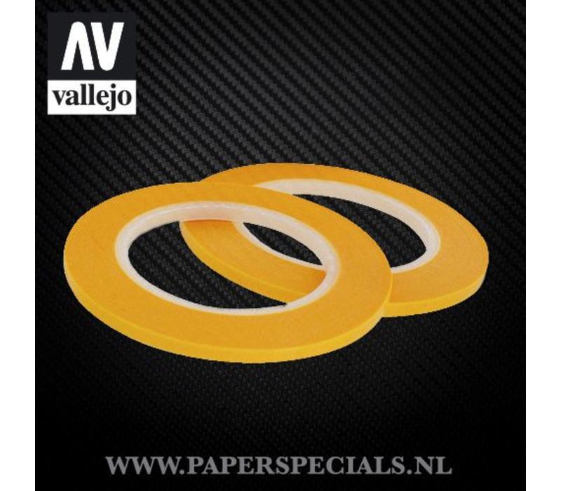 Vallejo - Precision Masking Tape 3mm - 2 rolls of 18 meter