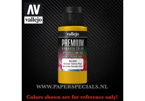 Vallejo Vallejo - Premium RC Color 60ML - 62.032 Fluorescent Golden Yellow