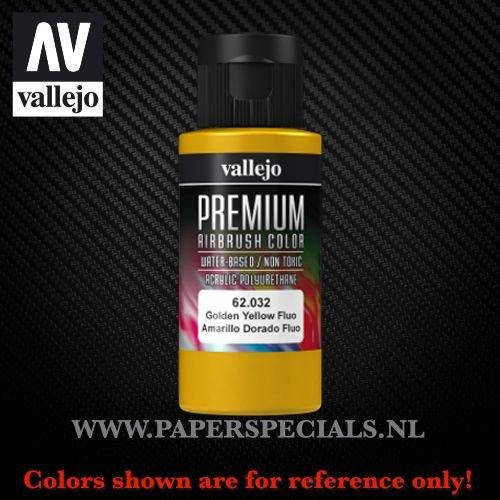 Vallejo - Premium RC Color 60ML - 62.032 Fluorescent Golden Yellow