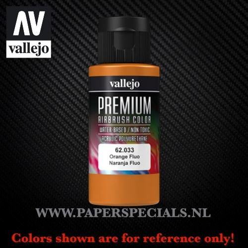 Vallejo - Premium RC Color 60ML - 62.033 Fluorescent Orange