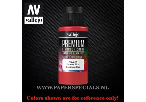 Vallejo Vallejo - Premium RC Color 60ML - 62.034 Fluorescent Scarlet