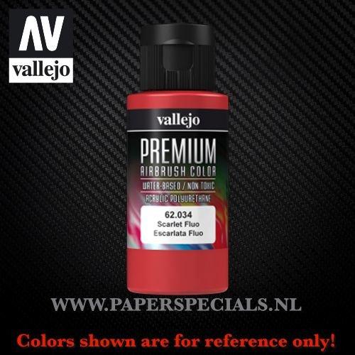 Vallejo - Premium RC Color 60ML - 62.034 Fluorescent Scarlet
