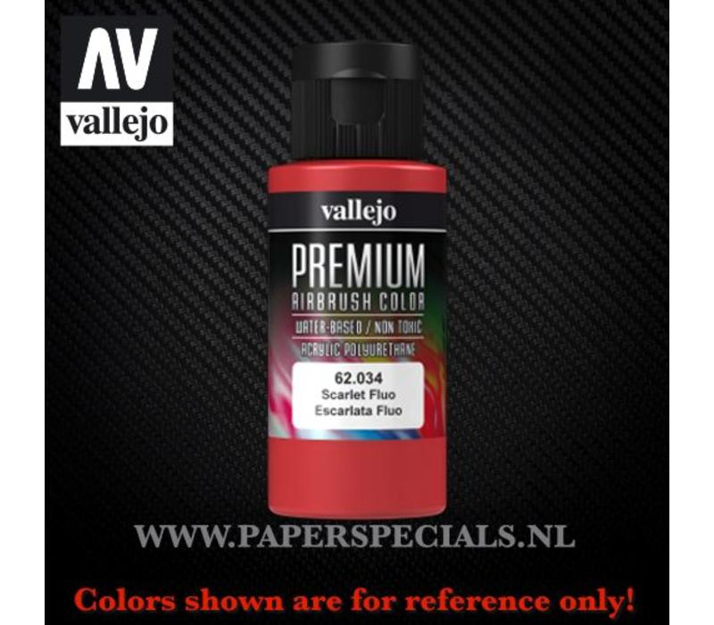Vallejo - Premium RC Color 60ML - 62.034 Fluorescent Scarlet