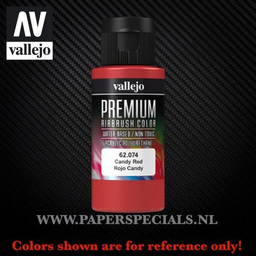 Vallejo - Premium RC Color 60ML - 62.074 Candy Red 60ML