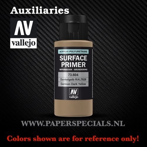 Vallejo - Surface Primer 60ml - 73.604 German Dark Yellow