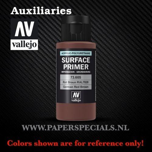 Vallejo - Surface Primer 60ml - 73.605 German Red Brown