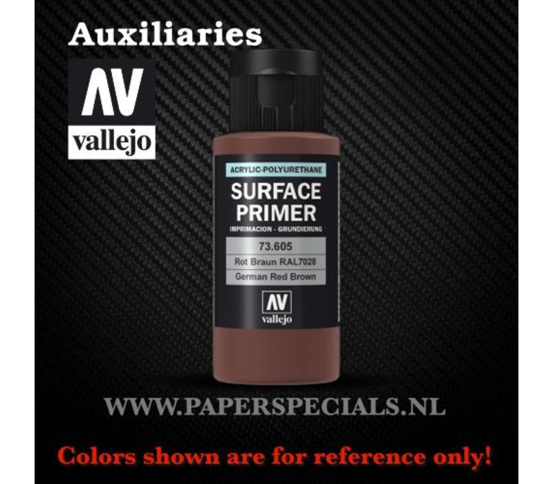 Vallejo - Surface Primer 60ml - 73.605 German Red Brown