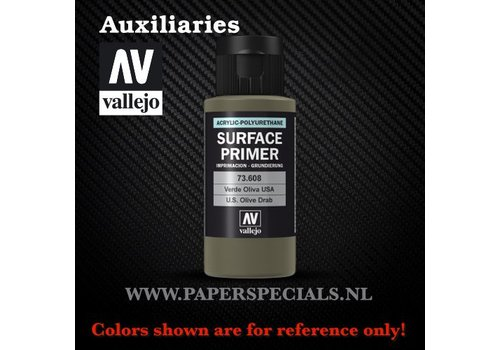 Vallejo Vallejo - Surface Primer 60ml - 73.608 USA Olive Drab