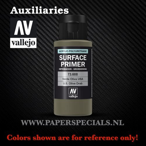 Vallejo - Surface Primer 60ml - 73.608 USA Olive Drab