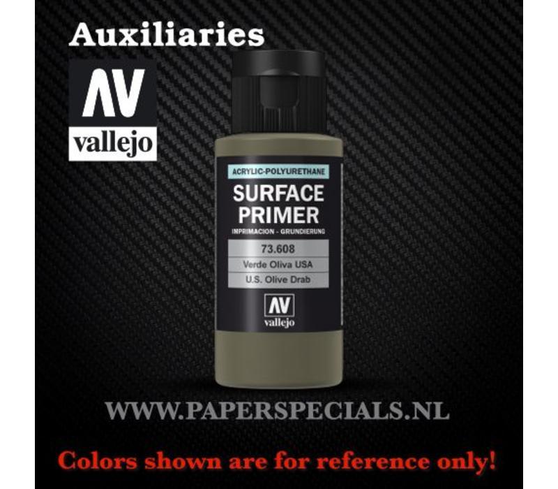 Vallejo - Surface Primer 60ml - 73.608 USA Olive Drab