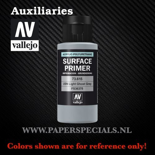 Vallejo - Surface Primer 60ml - 73.615 USN Light Ghost Grey