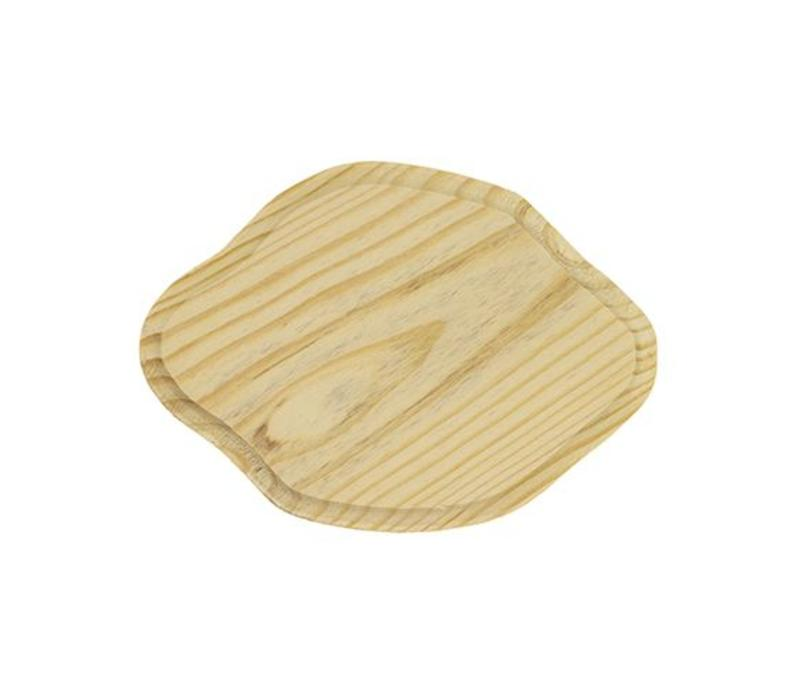 Pinewood sign 7mm thick - wavy oval 13x9cm