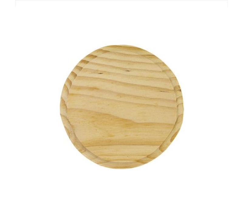 Vurenhout bordje 7mm dik - Rond 10cm